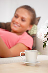 Lifestyle - woman relaxing at home