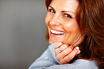 Portrait of happy young female smiling - Copyspace