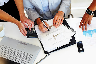 Buy stock photo Accounting - Group of business people working toge