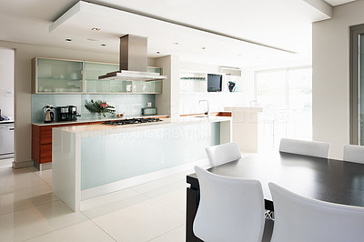 Buy stock photo Interior view of modern kitchen