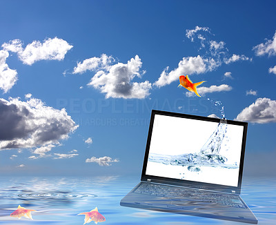 Buy stock photo Computer Generated Water Surface
