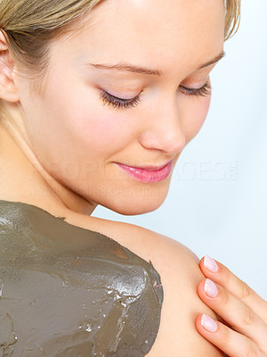Buy stock photo Skin care treatment on back