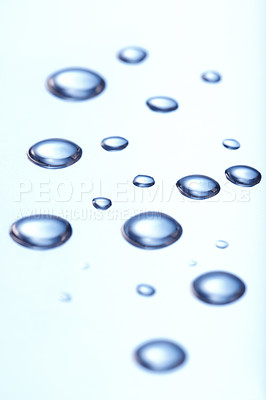 Buy stock photo Background of beautiful water drops on white surface