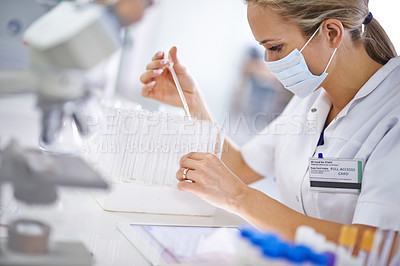 Buy stock photo A scientific researcher working in the lab
