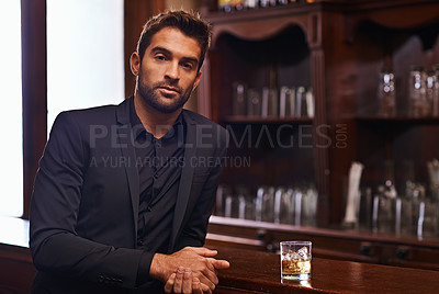 Buy stock photo Cropped shot of a handsome and confident young man