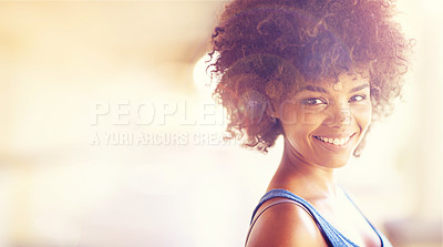 Buy stock photo Cropped shot of a confident young woman