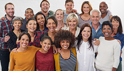 Buy stock photo A group of colleagues together