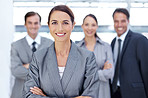 Managing her business team to success