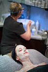 Enjoying a rejuvenating skin treatment