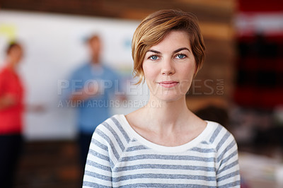 Buy stock photo Portrait of a young female designer in a casual work environment