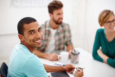 Buy stock photo Shot of a creative businesspeople in the office