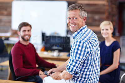 Buy stock photo Cropped portrait of a group of designers in their modern office