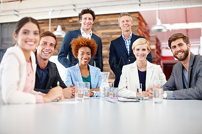 Buy stock photo Portrait of a group of designers in their office
