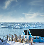 A photo of the Ilulissat Icefjord, Greenland