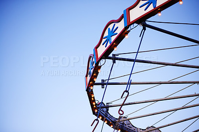 Buy stock photo Shot of a carousel at the fair