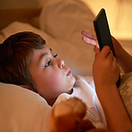 Safe in bed and thanks to parental control, safe online