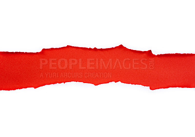 Buy stock photo Shot of colorful torn paper