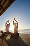 Staying healthy and happy by doing yoga