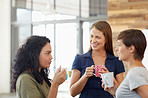 Improving interpersonal office relationships on their coffee break