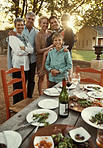 Alfresco dining with family