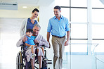 Family visits are important to a patient's recovery