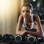 Focused on her fitness goals