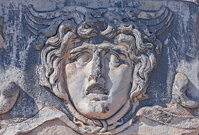 Buy stock photo This is Apollo. Located in The Temple of Apollo - Didyma - on the west coast of Turkey, was an important sacred site in the ancient Greek world. Its famous oracle and Temple of Apollo attracted crowds of pilgrims and was second in importance only to Delphi.