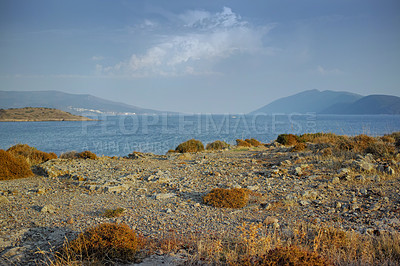 Buy stock photo Wilderness by the Mediterranean Sea. Close to the ancient city of Bodrum, Turkey