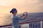 Taking photographs of a beautiful sunset