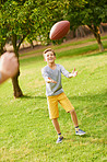 He'll be quarterback one day!