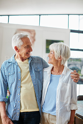 Buy stock photo Cropped shot of a loving senior couple at home