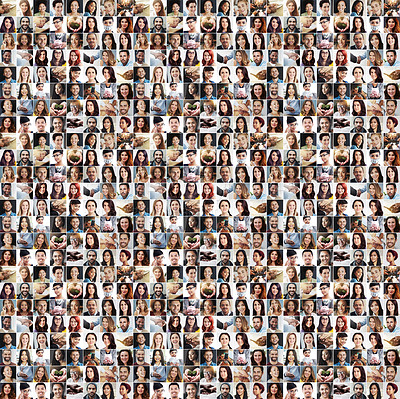 Buy stock photo Composite image of a diverse group of people