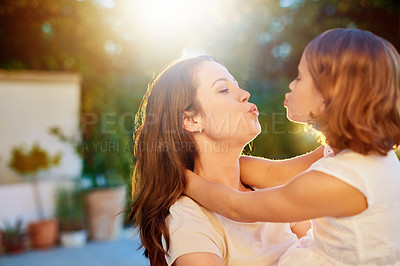 Buy stock photo Cropped shot of a mother and daughter spending quality time together