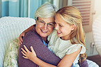 The love between granny and granddaughter