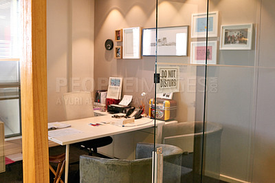Buy stock photo Shot of an empty office with a