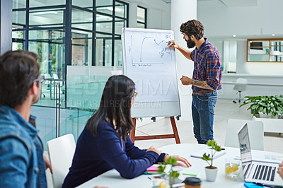 Buy stock photo Cropped shot of businesspeople having a boardroom meeting together