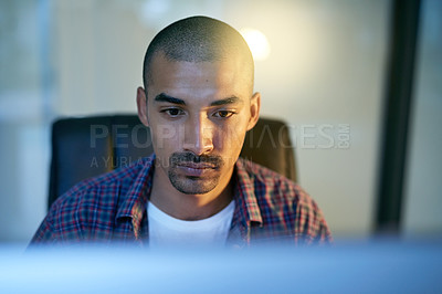 Buy stock photo Cropped shot of a young designer in the office