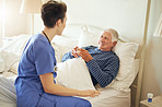 Ensuring her patient gets the best comfort and care