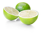 Isolated lime fruits