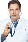 Doctor holding a stethoscope for medical checkup