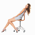 Young woman relaxing on chair