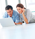 Mature couple working together on the computer
