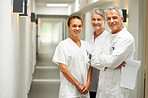 Caring medical workers in hospital