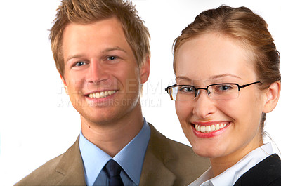 Buy stock photo Businessteam Businesspeople in studio