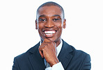 Smiling African American male executive