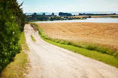 Buy stock photo View of a deserted country road