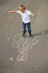 He's the hopscotch champion