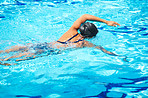 Keeping fit by swimming regularly