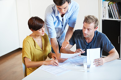 Buy stock photo Cropped shot of a business meeting in progress