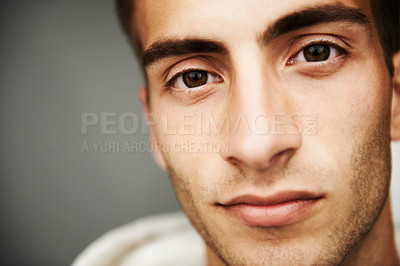 Buy stock photo Close up portrait of a handsome male